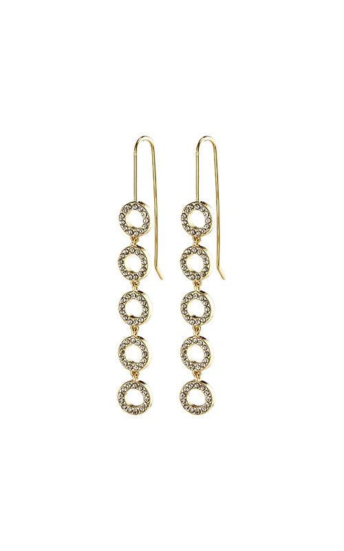 Pilgrim Tessa Drop Earrings, gold