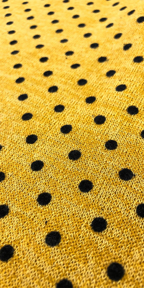Rocket Crop Turtleneck, mustard dot