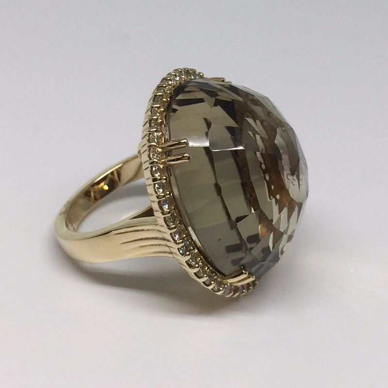 Russian Inspired Smokey Quartz and Diamond Ring-Howard's Diamond Center-Howard's Diamond Center