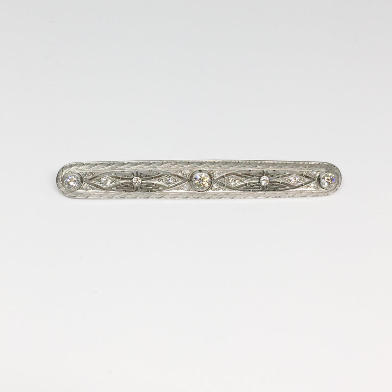 Intricate Diamond Bar Pin-Estate-Howard's Diamond Center