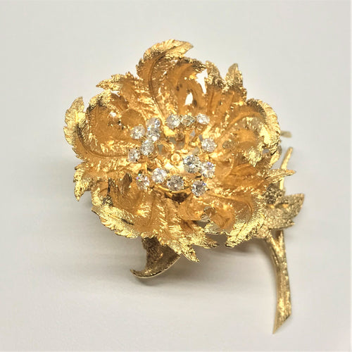 """Day/Night"" En Tremblant Flower Brooch"