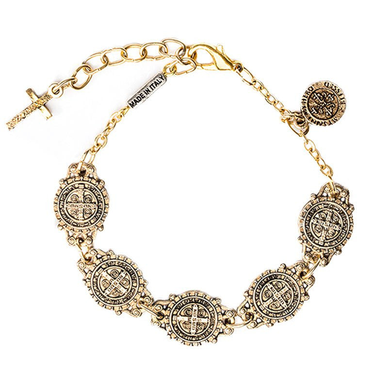 Benedictine Link Bracelet-My Saint My Hero-Howard's Diamond Center
