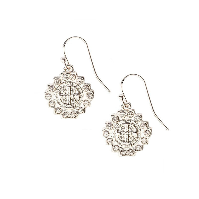 Brilliance Crystal Drop Earrings-My Saint My Hero-Howard's Diamond Center