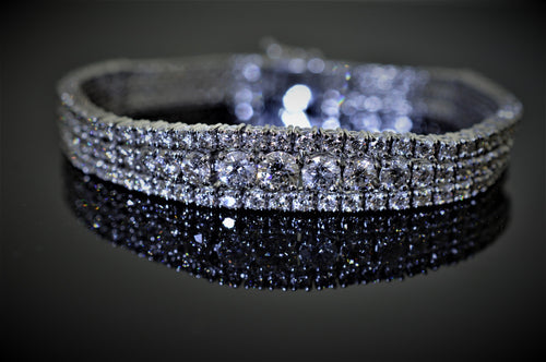 18K White Gold Hollywood Estate Diamond Bracelet