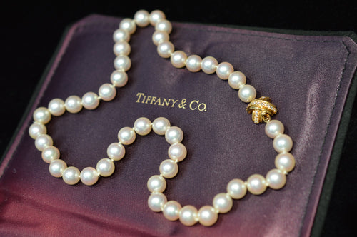 16 Inch Tiffany And Co. Pearl Strand