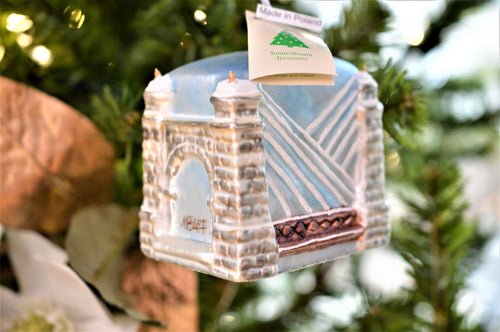Wheeling Suspension Bridge Glass Ornament