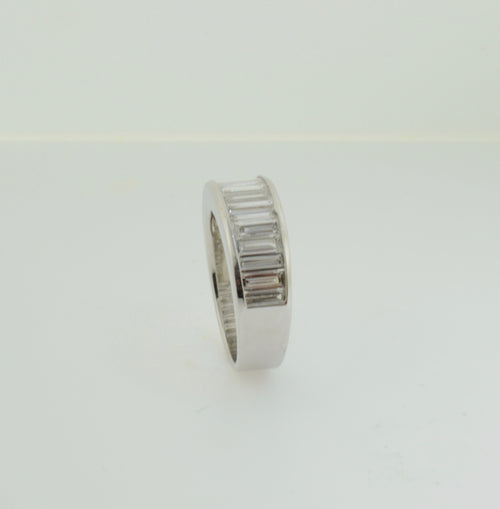 Baguette Diamond Anniversary/Wedding Band White Gold Ring