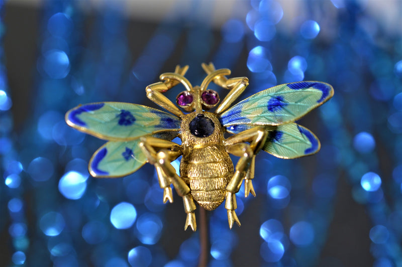 18K Bee Hat Pin