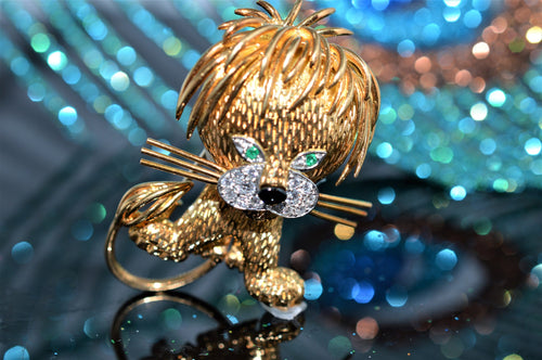 18K Van Cleef And Arpels Lion Brooch