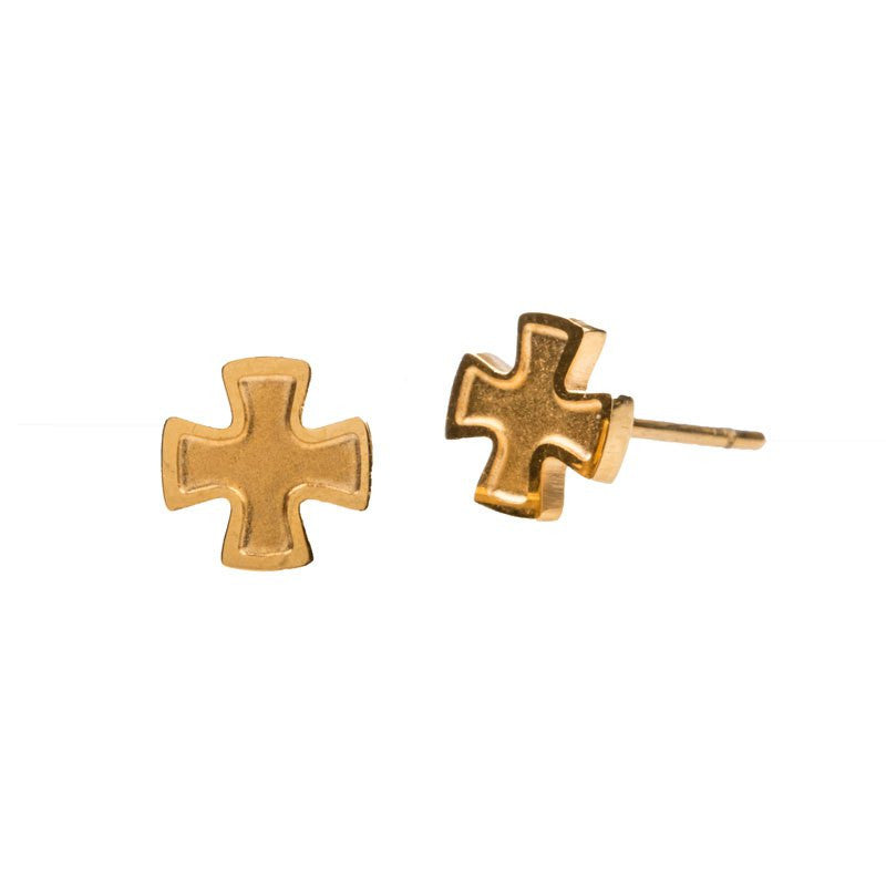 Faith Stud Earrings-My Saint My Hero-Howard's Diamond Center