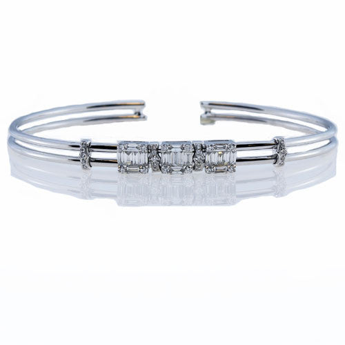 JINGLE BANGLE with .79 Carats of Round and Baguette Cut Diamonds-Almor Designs-Howard's Diamond Center