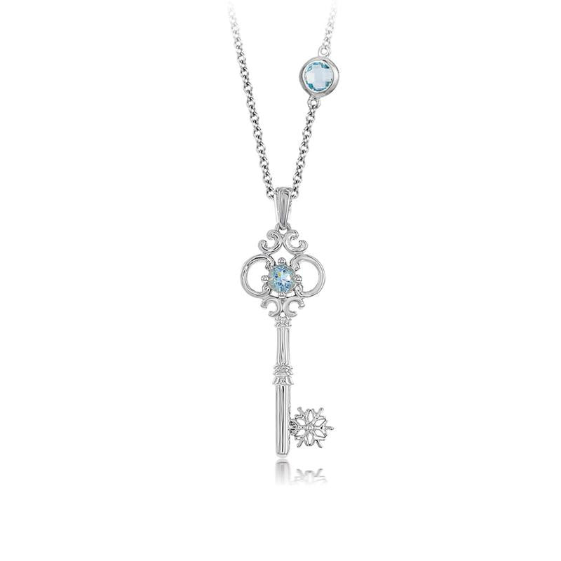ELSA SNOWFLAKE KEY PENDANT-Howard's Diamond Center-Howard's Diamond Center