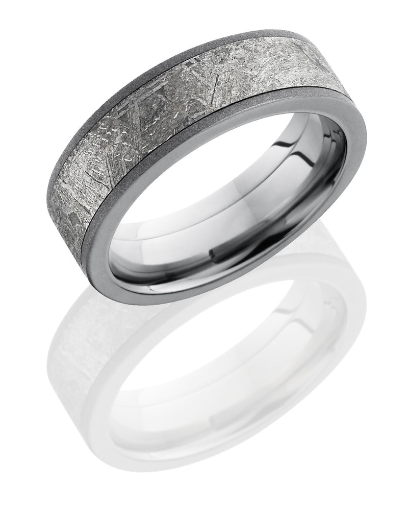 Sandblast Titanium Meteorite Band-Lashbrook-Howard's Diamond Center