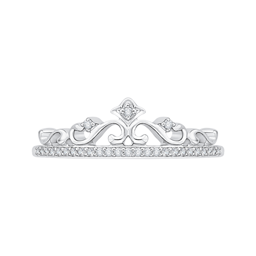 TIARA RING in 10K White Gold with .11 Carats of Diamonds-Shah Diamonds-Howard's Diamond Center