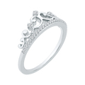 TIARA RING in 10K White Gold with .10 Carats of Diamonds-Shah Diamonds-Howard's Diamond Center