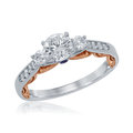 CINDERELLA BRIDAL RING WITH DRESS SILHOUETTE-Howard's Diamond Center-Howard's Diamond Center