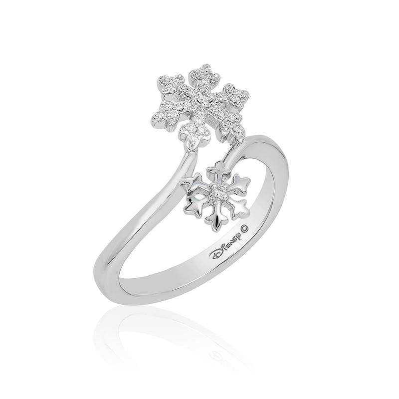 ELSA SNOWFLAKE BYPASS RING-Howard's Diamond Center-Howard's Diamond Center