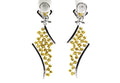 RED CARPET WORTHY White and Fancy Yellow Diamond Earrings-Almor Designs-Howard's Diamond Center