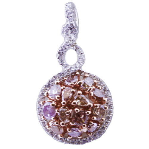 COTTON CANDY PENDANT with 1.31 Carats of Natural Pink and White Diamonds-Almor Designs-Howard's Diamond Center