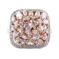 NATURAL PINK DIAMONDS and White Diamonds in 18K Gold Ring-Almor Designs-Howard's Diamond Center