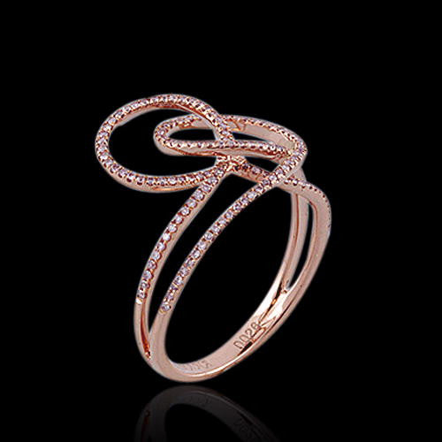 PINK SWIRLS in 18K Rose Gold and Natural Pink Diamonds-Almor Designs-Howard's Diamond Center