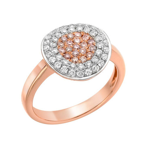 PINK IN THE MIDDLE Round Diamond Ring-Almor Designs-Howard's Diamond Center