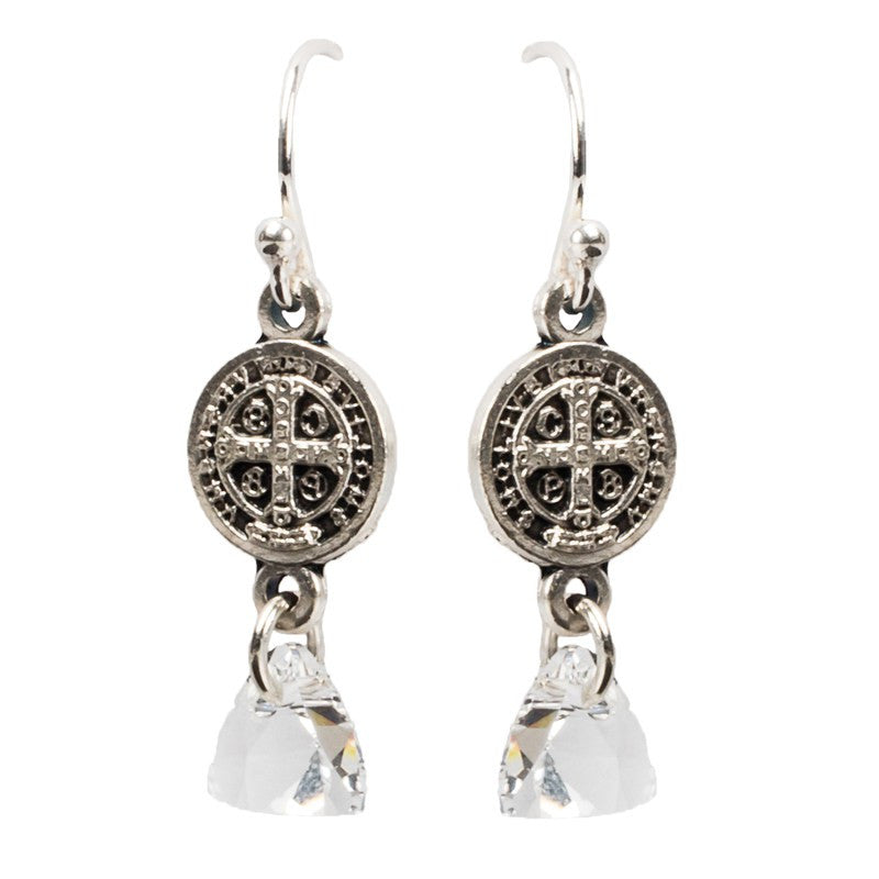 Blessed Trinity in Starlight Earrings-My Saint My Hero-Howard's Diamond Center