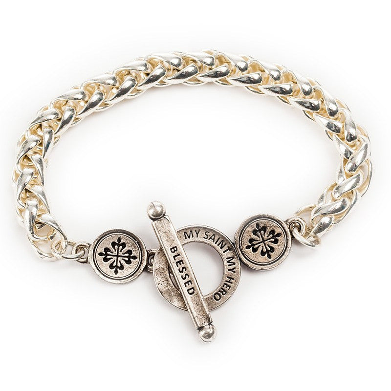 Blessed Links Bracelet-My Saint My Hero-Howard's Diamond Center