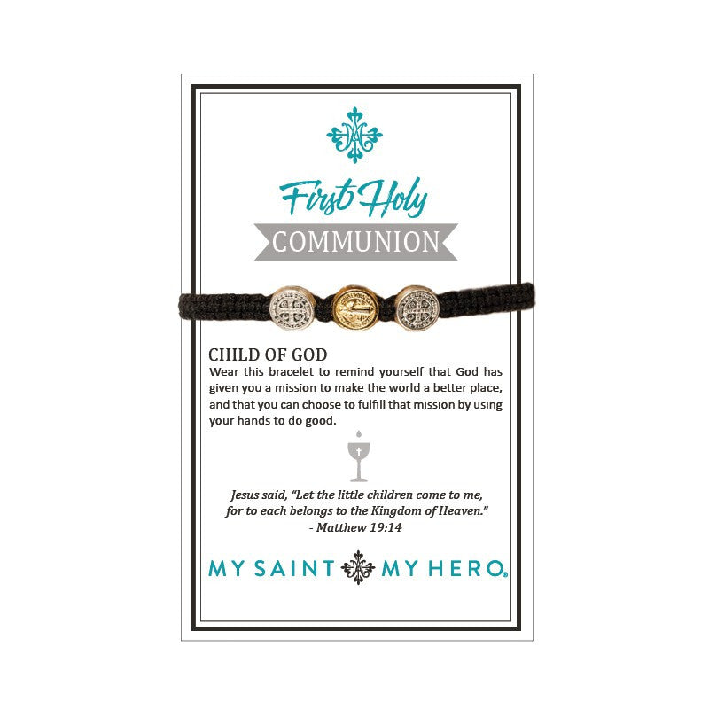 Child of God/First Holy Communion Blessing Bracelet-My Saint My Hero-Howard's Diamond Center