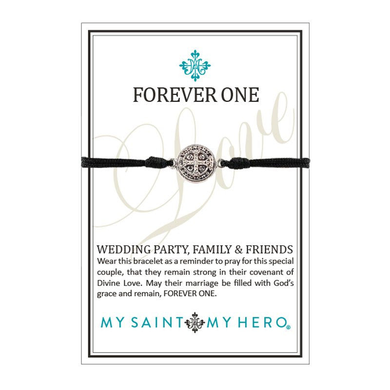 Forever One/Wedding Party, Family, Friends Bracelet-My Saint My Hero-Howard's Diamond Center