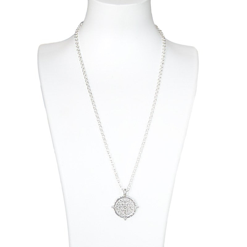 Benedictine Medallion Necklace-My Saint My Hero-Howard's Diamond Center