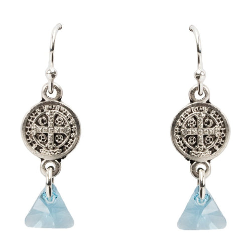 Blessed Trinity in Tranquility Earrings-My Saint My Hero-Howard's Diamond Center