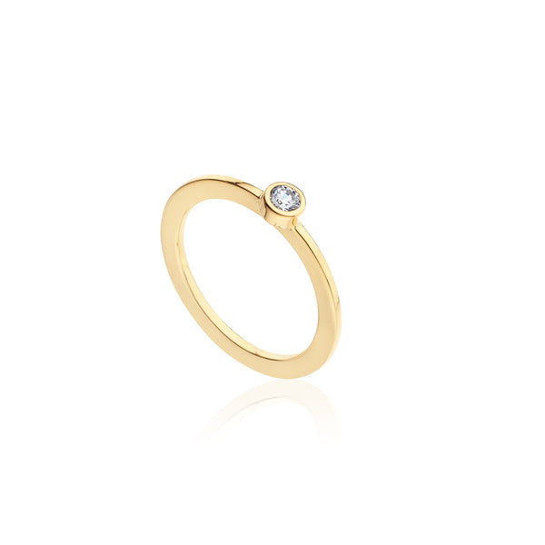 ANILLO SOLITARIO 0.10 CTS - ByM Jewellery