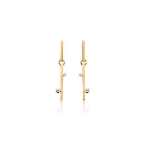 PENDIENTES LINEAL VERTICAL  MINI - ByM Jewellery