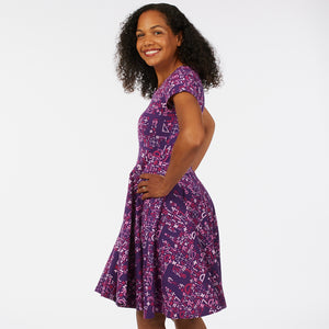"""I Spy Pi"" Math Short Sleeve Super Twirler Dress - Adult"