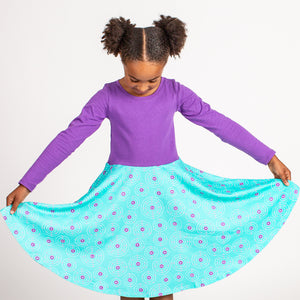 """Up and Atom"" Chemistry Twirly Play Dress with Long Sleeves"