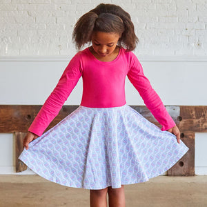 """Base Pair Beauty"" DNA Long Sleeve Twirly Play Dress"
