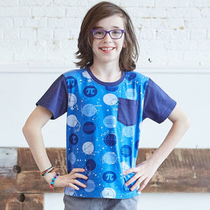 """Blueberry Pi"" Math Dots Short Sleeve Pocket Tee"