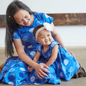 """Blueberry Pi"" Math Dots Infant Dress"