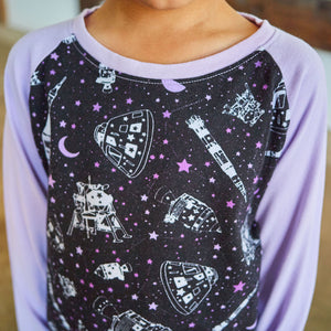 Moon Landing Long Sleeve Raglan Shirt