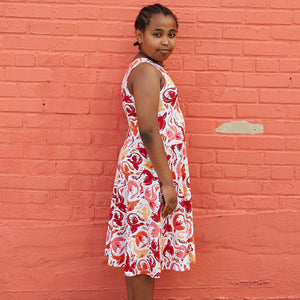 """Fire Borne"" Phoenixes Knee-Length Stretchy Sleeveless Play Dress"