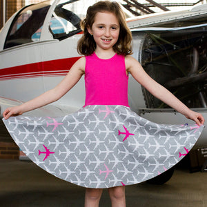 """Airheart"" Airplanes Twirly Play Dress"