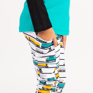 """Engine-uity"" Trains Leggings with Pockets"