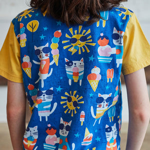 """We All Meow For Ice Cream"" Cats Short Sleeve Pocket Tee"