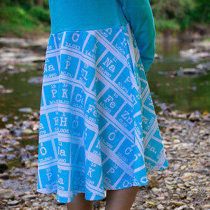 """Elements of Style"" Periodic Table Twirly Play Dress with Long Sleeves"