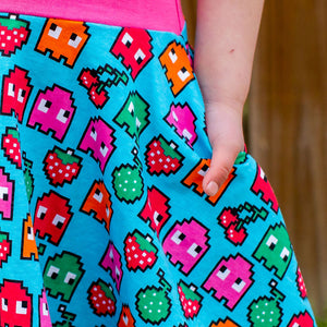 """Arcade Snacks"" Video Games Twirly Play Dress"