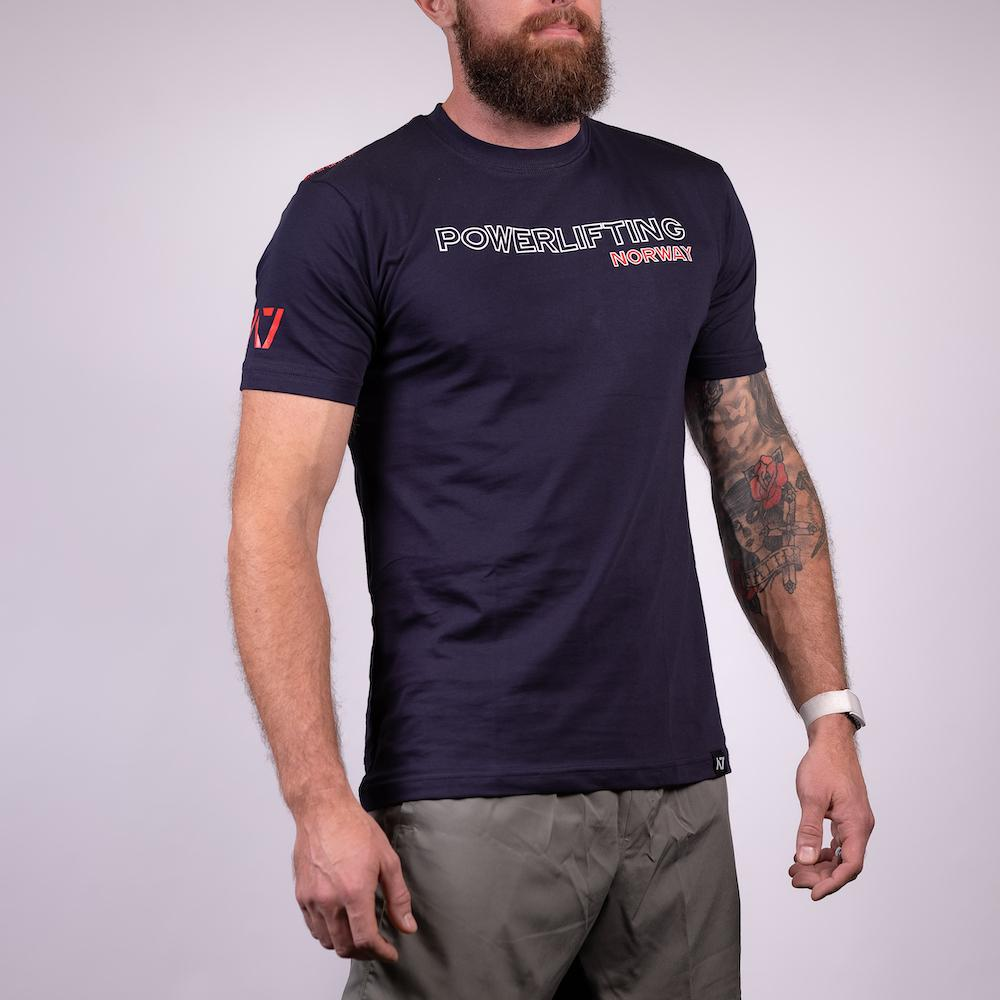 Norway Bar Grip T-shirt, great as a squat shirt. Purchase Bar Grip tshirt UK from A7 UK. Purchase Norway Bar Grip Shirt Europe from A7 UK. No more chalk and no more sliding. Best Bar Grip Tshirts, shipping to UK and Europe from A7 UK. Norway is our UK flag bar grip tshirt design! The best Powerlifting apparel for all your workouts.