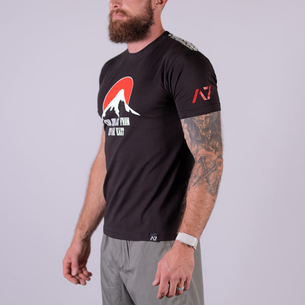 A7 Japan Bar Grip T-shirt, great as a squat shirt. Purchase Japan Bar Grip tshirt from A7 UK. Purchase Japan Bar Grip Shirt Europe from A7 UK. No more chalk and no more sliding. Best Bar Grip Tshirts, shipping to UK and Europe from A7 UK. Japan bar grip tshirt has a Unique Japan front print! The best Powerlifting apparel for all your workouts.