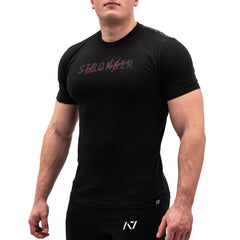 Intertwined Bar Grip T-shirt, great as a squat shirt. Purchase Intertwined Bar Grip tshirt UK from A7 UK. Purchase Intertwined Bar Grip Shirt in Europe from A7 UK. No more chalk and no more sliding. Best Bar Grip Tshirts, shipping to UK and Europe from A7 UK. Intertwined is our classic black on black shirt design! The best Powerlifting apparel for all your workouts. Available in UK and Europe including France, Italy, Germany, Sweden and Poland