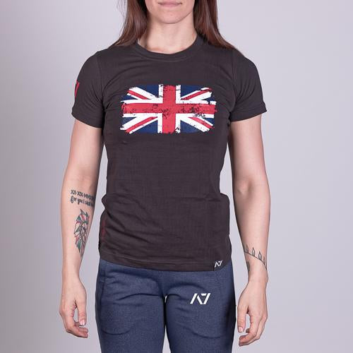 Britannia Bar Grip T-shirt, great as a squat shirt. Purchase Bar Grip tshirt UK from A7 UK. Purchase Britannia Bar Grip Shirt Europe from A7 UK. No more chalk and no more sliding. Best Bar Grip Tshirts, shipping to UK and Europe from A7 UK. Britannia is our UK flag bar grip tshirt design! The best Powerlifting apparel for all your workouts.